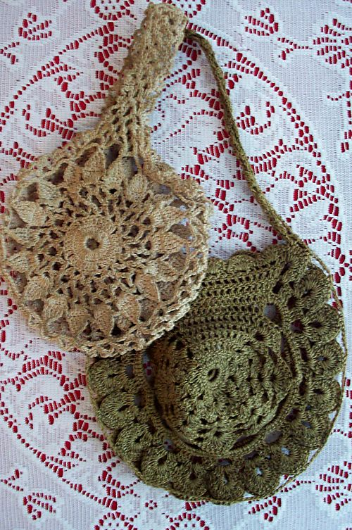 2 crochet bags