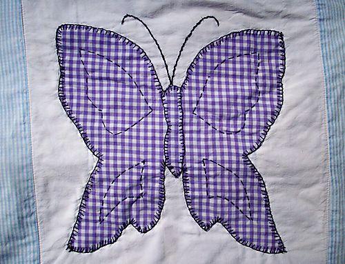 Purple gingham butterfly