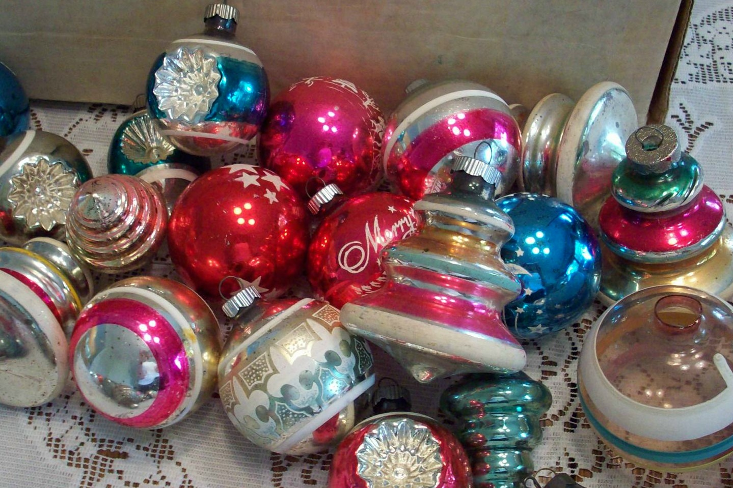 Oodles and oodles: Sorting through vintage Christmas ornaments