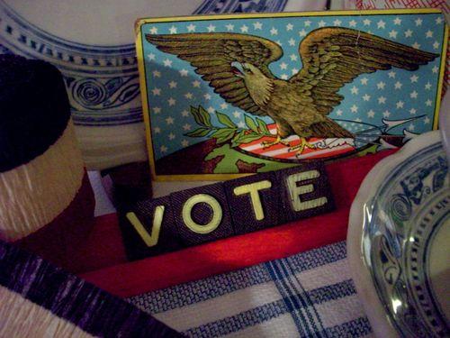 Vote closeup