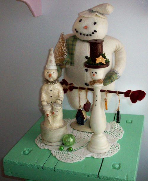 Snowman on table