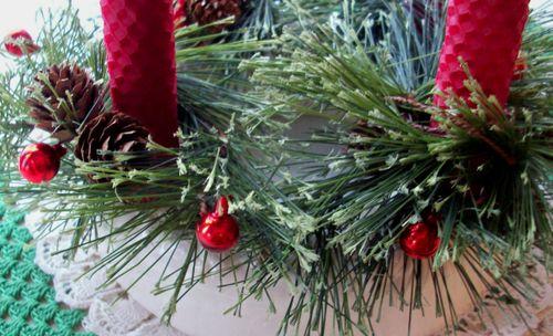 Advent wreath detail