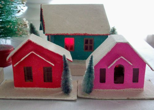 Village bright houses