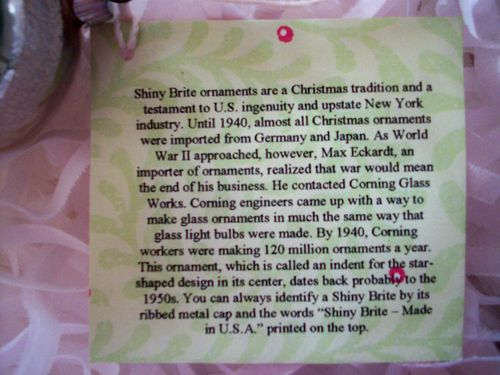 Shiny brite card