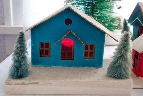 Village big blue house