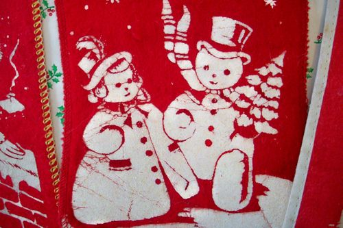 Stocking detail snowman