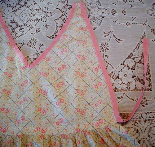 Pink tie apron