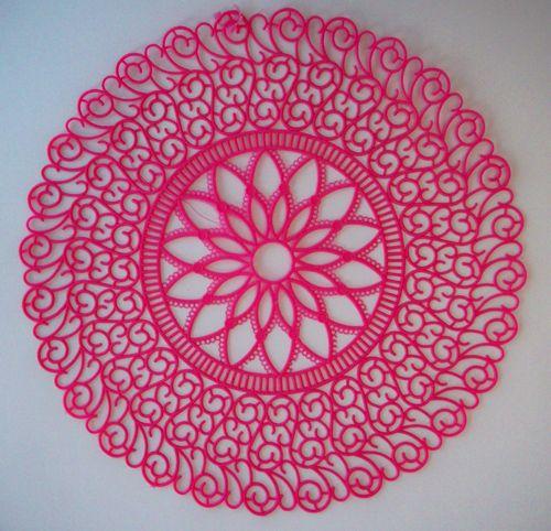 Pink doily