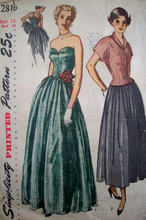 Patterns evening dress