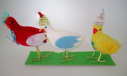 Birds with fezes