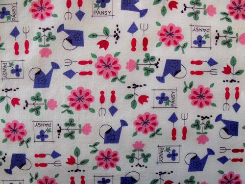 Pansy fabric