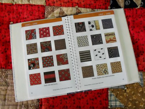 Br red quilt w book
