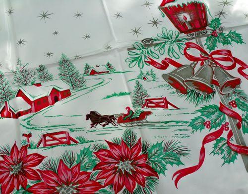 Tablecloth christmas detail
