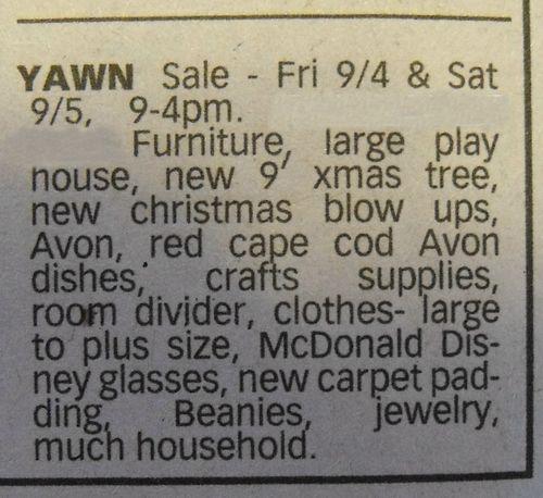 Yawn ad