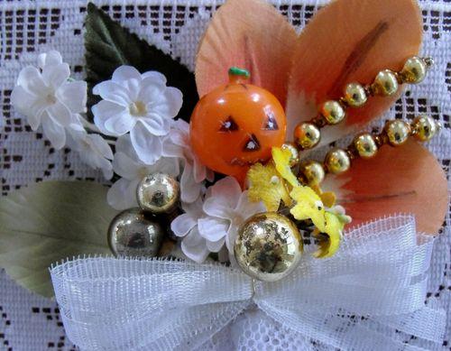 Pumpkin corsage