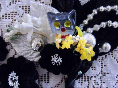 Black cat corsage