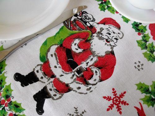 Santa tablecloth