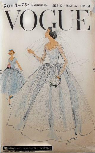 Vogue bridal pattern