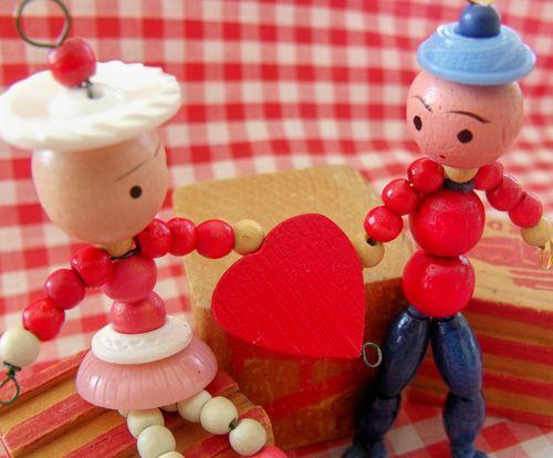 Wood bead valentine 2