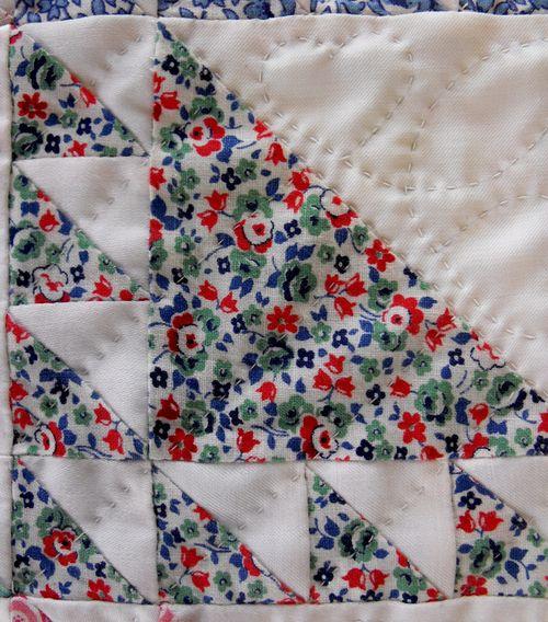 Quilt multi floral square