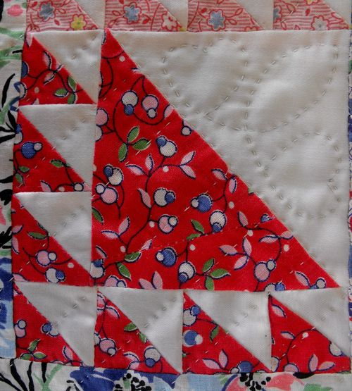 Quilt red square