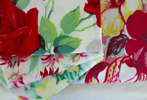 Folded linens closeup