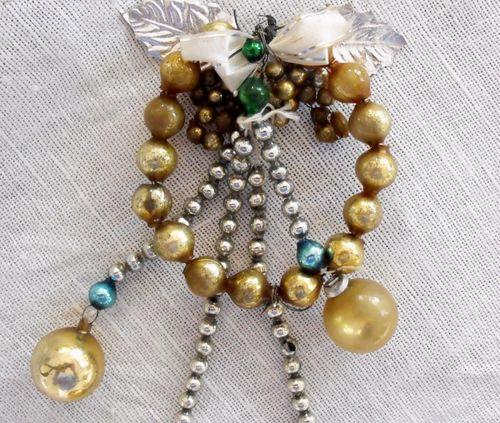 Christmas bead wreath