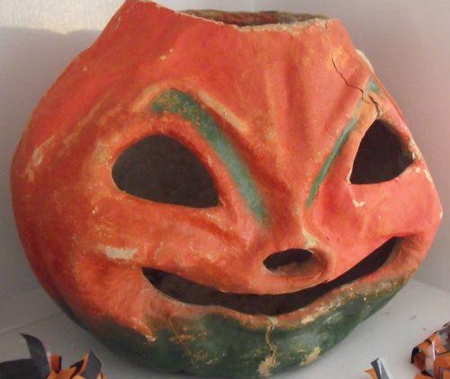 H paper mache pumpkin