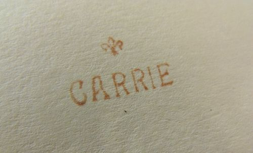 Carrie in type
