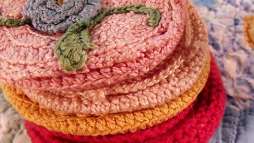 Stack of crochet