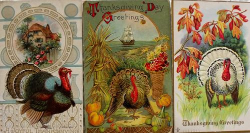 B postcard turkeys