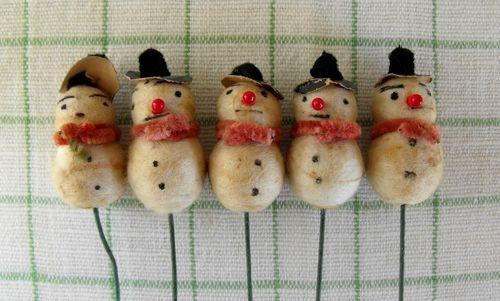 Spun snowmen