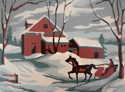 Sleigh painting