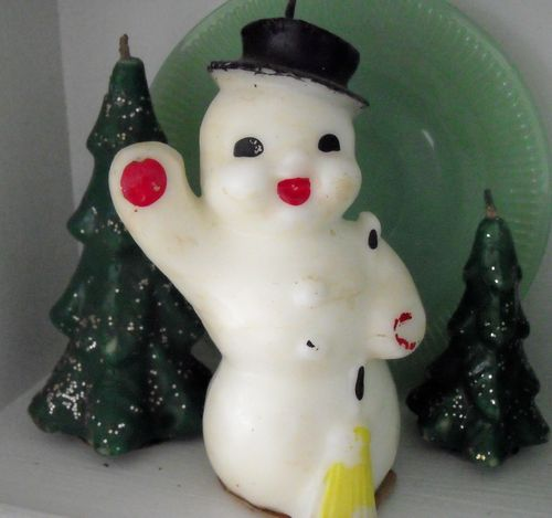Lg waving snowman