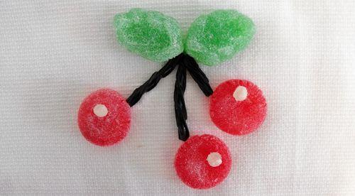Cherry gumdrops