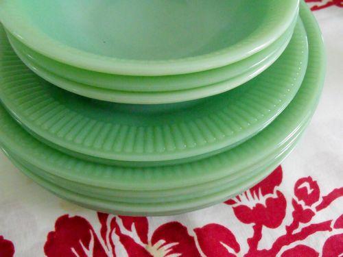 Jadite plates and bowls