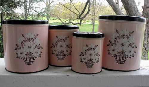 Pink canisters