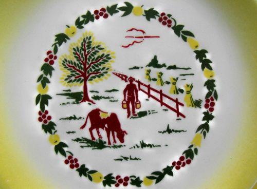 Farm scene w farmer