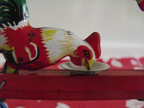 Garage sale chicken closeup