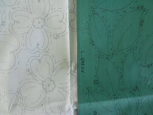 Stamped fabric for dogwood