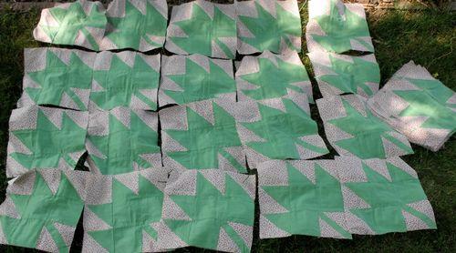 Green squares together
