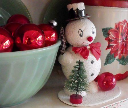Cardboard snowman