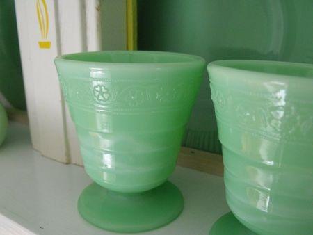 Jadeite dessert cups