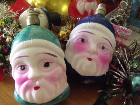 Santa bulbs