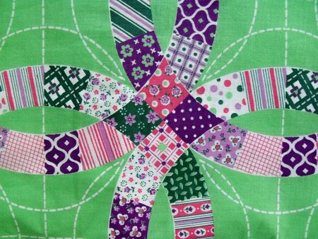 Green quilt fabric