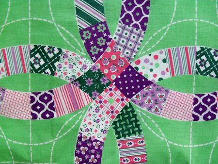 Green quilt fabric