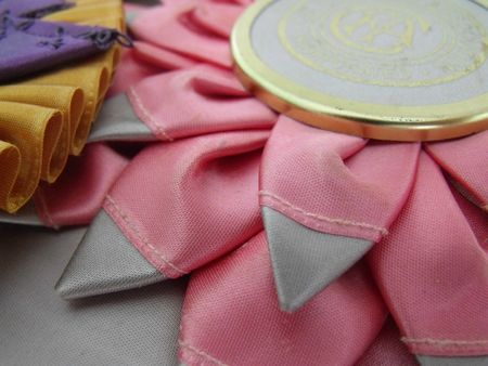 Ribbon pink rosette