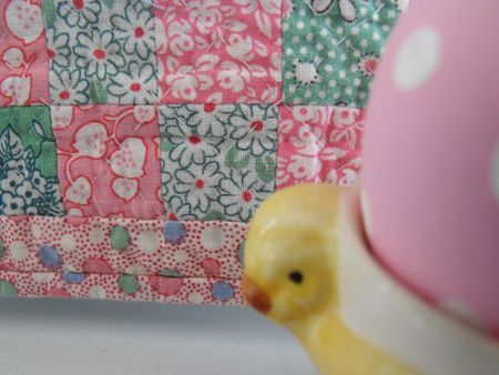 Quilt with chick