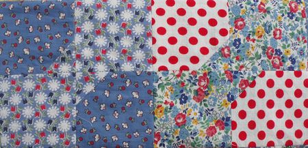 Quilt red polka dot square