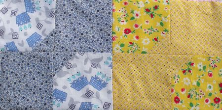 Quilt yellow and blue